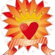 Crowned heart — Stock Vector #4622507