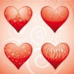 Four hearts — Stock Vector #4698848
