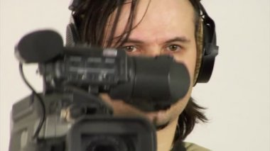 Studio video shooting — Stock Video