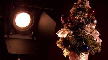 Christmas tree — Stok video
