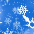 Christmas snowflakes background — Stock Video