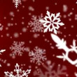 Christmas snowflakes background - Stock Photo