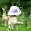 Baby in park — Stock Video