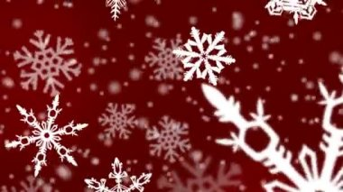 Christmas snowflakes background — Stok video