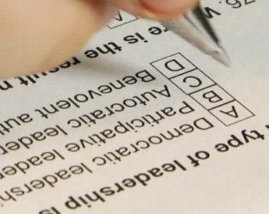 Prueba de examen de relleno — Vídeo de Stock