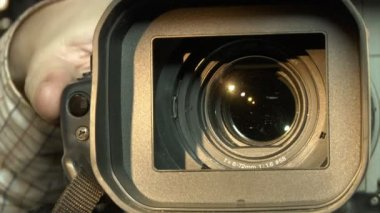 Dv-cam camcorder close-up — Stock Video