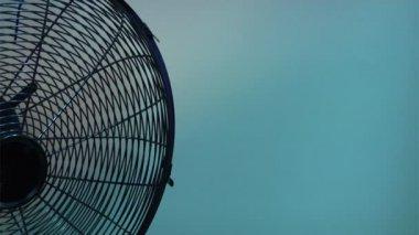 Electric fan background — Stock Video