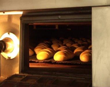 Przenośnik do pieczenia chleba — Wideo stockowe