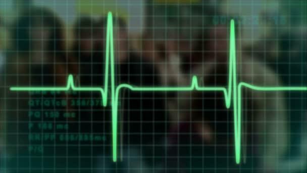 Rastro de pulso de electrocardiograma — Vídeo de stock