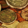 Rotatory coins loop - Foto Stock