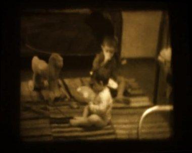 Stary film domu — Wideo stockowe