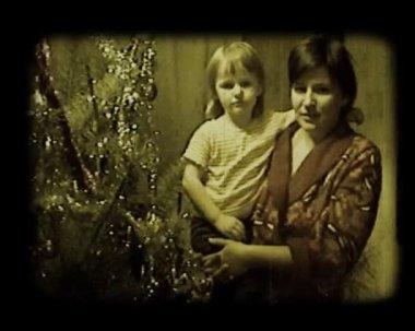Near Christmas tree — Stock Video