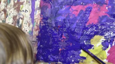 Art painting — Stock Video