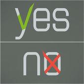 Yes and no button checkmark. Flat design. Vector — Stock Vector