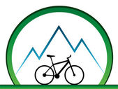 Design for mountain bikers — Stock Vector