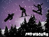 Snowboard — Vettoriale Stock