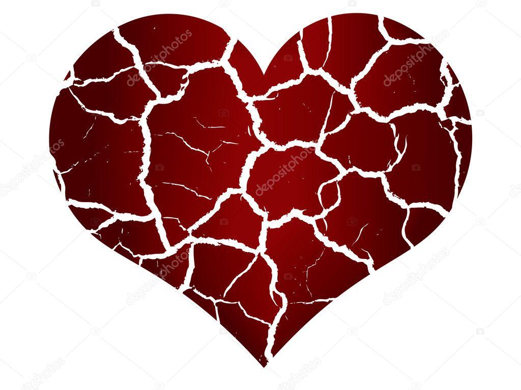 Vector heart broken