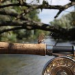 Flyfishing on mountain river — Stock Photo #33083357