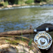 Flyfishing on mountain river — Stock Photo #33083383