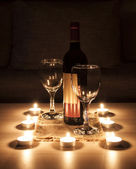 Romantic eve decoration — Foto Stock