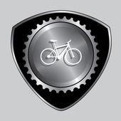 Знак на велосипеде — Cтоковый вектор