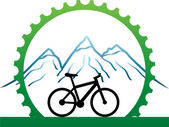 Design for mountain bikers — Stock Vector