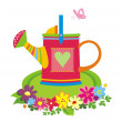 Watering can. — Stock Vector