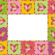 Love frame with hearts. — Stock Vector