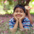 Boy in Park — Stockfoto