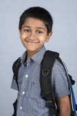 Handsome Indian boy ready to go to school — Stock fotografie