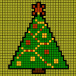 Christmas tree of squares — Vector de stock #14366773
