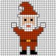 Illustrated Santa Claus of the squares — Stock Vector