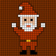 Illustrated SantClaus of squares — Vector de stock #14366785