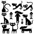 Stock Vector: Picture of cats and dogs