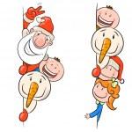 geïllustreerd lachende gezichten — Stockvector
