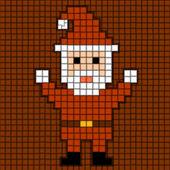 Geïllustreerde santa claus van de kwadraten — Stockvector