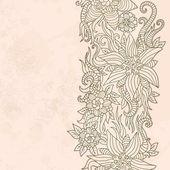 Texture vintage avec motif floral — Vecteur