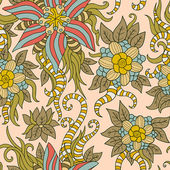 Vintage texture with floral pattern — Stock Vector