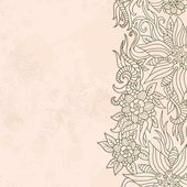 Vintage texture with floral pattern — Vecteur