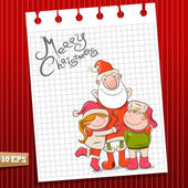 Children and santa claus — Stock Vector