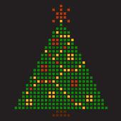 Рождественская елка из квадратов — Cтоковый вектор