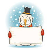 Glad snowman — Stock Vector