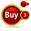 "Stock Vector: Red button ""Buy""."
