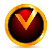 Rode label van de beste keuze. vectorillustratie — Stockvector