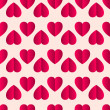Pink vector glossy paper hearts seamless pattern on white background - Stock Vector