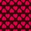 Pink vector glossy paper hearts seamless pattern on dark background — Stock Vector