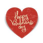 Vector heart for valentine day design over white background — Stock Vector