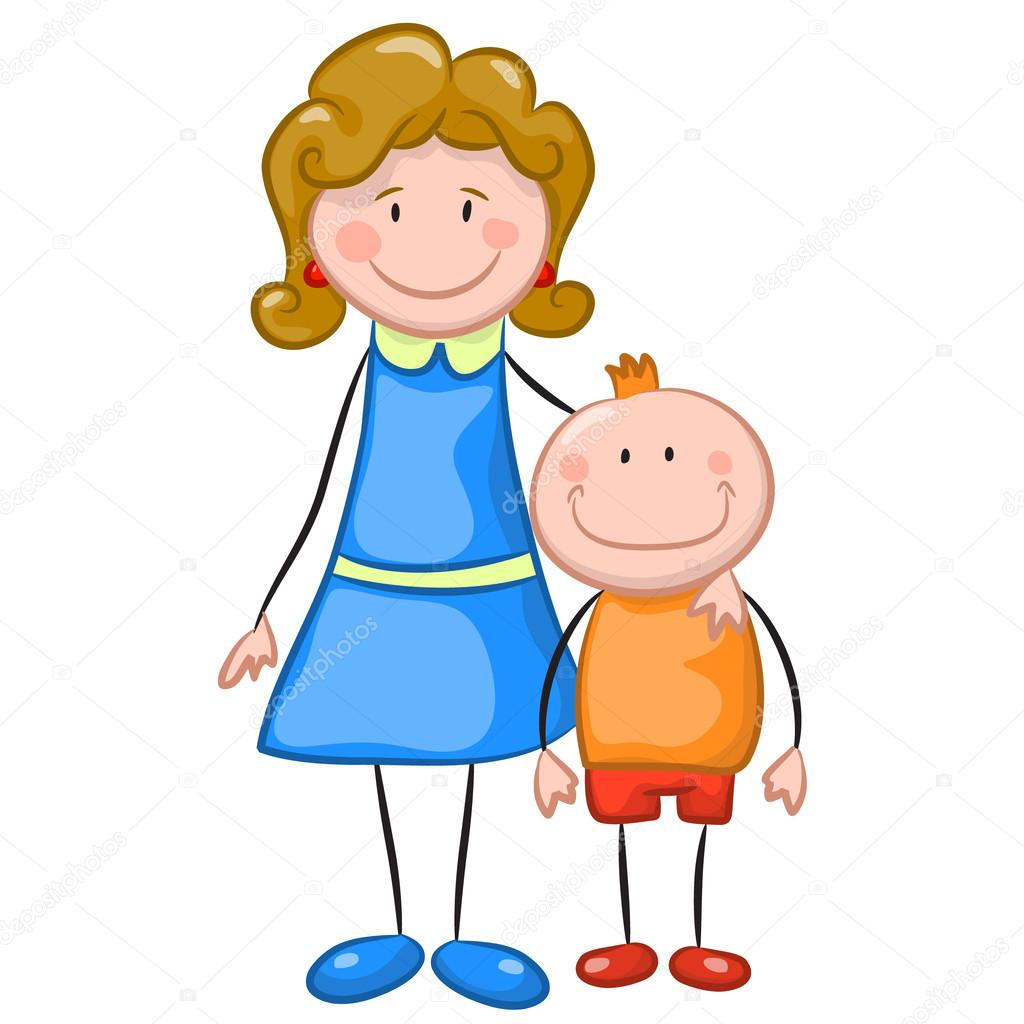 Рисованные картинки сын и мама 3 фотография