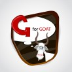 The English alphabet of animal theme. G for Goat. Vector illustration — Stock Vector