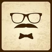 Retro-styled man. — Stock Vector